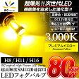 イエロー LEDフォグ!!アルファード/ヴェルファイア 30系適合H8 H11 H16 LED バルブ LED フォグランプLEDバルブ イエロー 12V車用 高輝度SMD LED搭載 爆光最強クラスの輝度 80W 2個1セットLED 黄色 フォグライト 純正交換