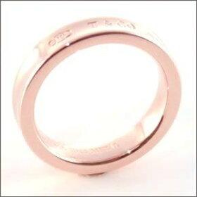 ティファニーTiffany&Co.1837ナローリング指輪RUBEDOルベドメタル【送料無料】【LuxuryBrandSelection】