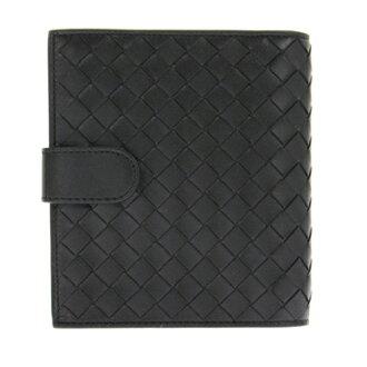 Bottega Veneta [BOTTEGA VENETA two bi-fold wallet (wallet) (pennies with) 114073 V001N1000 lambskin (black) brand 532P16Jul16