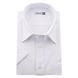 ワイシャツ 半袖 白無地 白 形態安定 メンズ シャツ ドレスシャツ ビジネス ゆったり スリム 制服 yシャツ 冠婚葬祭 大きいサイズも カッターシャツ 白シャツ/hr601