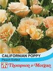 【輸入種子】Thompson & Morgan Californian Poppy Peach Sorbet カリフォルニアポピー(エスコルシア) ピーチ・ソルベ トンプソン&モーガン