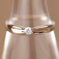 毎日のおしゃれに!清楚なシンプルダイヤリングK18ピンクゴールドダイヤモンドリング