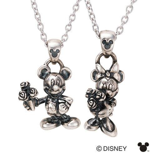 whiteclover(ホワイトクローバー)『DisneySeriesミッキー&ミニー立体いぶし加工ペアネックレス(DI003L&DI003M)』