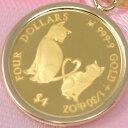 コイン Mother's Love Coin 猫 ミーチョ ミーチャ 2021 24金 枠 18金 1/30オンス しっぽ ハート 可愛い 送料無料