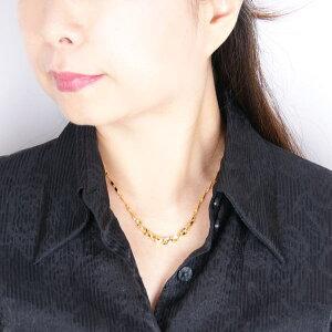 純金セミハンドメイドデザインネックレス(エレガントツイスト)