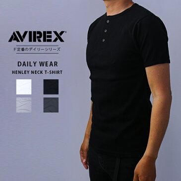 【送料無料】AVIREX アビレックス Tシャツ ヘンリーネック 無地 デイリー インナー 下着 メンズ DAILY WEAR デイリーウェア 6143504