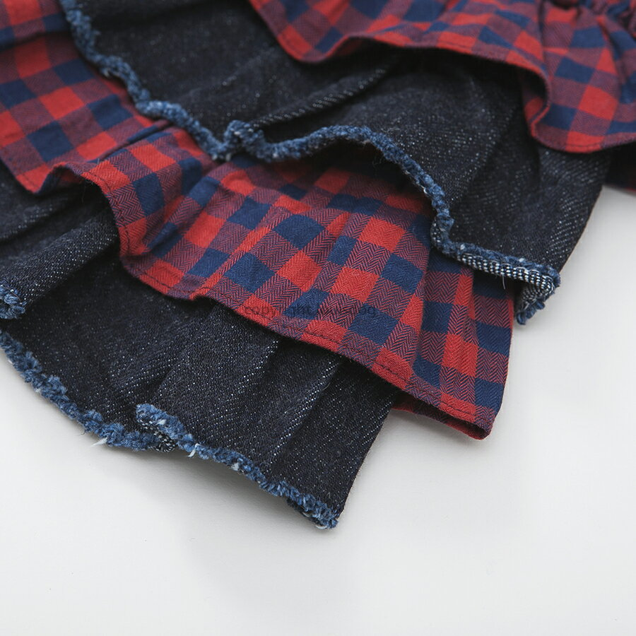 LOUISDOG/ルイドッグ ルイスドッグ CheckPlz Dress(犬 服 小型犬  中型犬 チェック デニムワンピース コットン ドレス)ドッグウエア