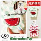 【DM便無料】【ドッグウェア】【犬の服】Water melon topドット 水玉 タンクトップ すいか フルーツ トップス