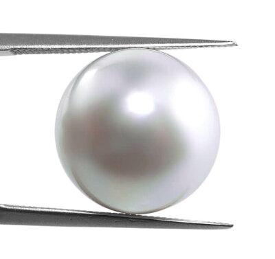 6月誕生石.天然白蝶貝真円13.3ミリ【南洋真珠】【加工に最適】