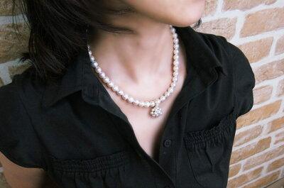 天然真珠6.1ミリペンダントトップ・K18YG真珠ネックレスにSET出来る!