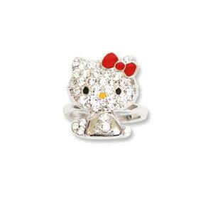 ハローキティ Hello Kittyキラキラ パヴェ リング(指輪) キティちゃん アクセサリー...