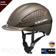 乗馬用ヘルメット KED PASO(茶色 マットブラウン) 乗馬ヘルメット 帽子 欧州安全基準認証 サイズ調整 インナー洗濯可 LED安全ライト 乗馬用品