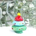 <ガラス細工硝子細工ミニチュアガラスクリスマスクリスマスツリークリスマス雑貨>とってもカラフル・クリスマスツリー<ミニチュア小物ガラス細工><ガラス細工ファニチャー>【ギフトプレゼントラッピング】