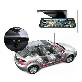 ギフトあり【2020最新版】ドライブレコーダーミラー前後カメラ9.66インチ右ハンドル仕様デジタルインナーミラー2カメラ同時録画地デジTVノイズ対策済LED信号機駐車監視ドラレコ12V/24V対応24v車載トラック対応(R0016H)六ヶ月保証