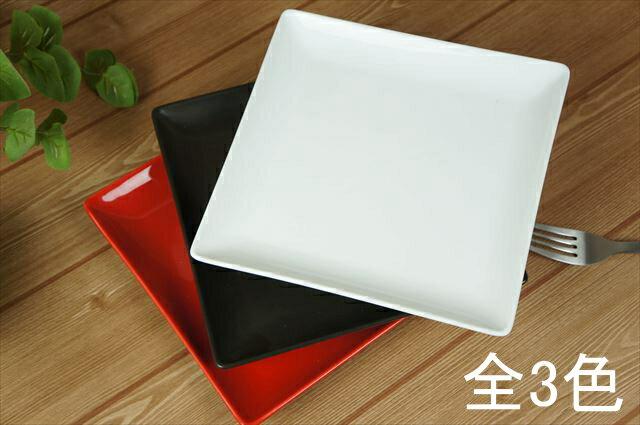 ケーキ皿 スクエアー プレート19cm/ブラック スクエアプレート/角皿/スクエア/取り皿/デザート/皿/陶器/食器/黒/おしゃれ/カフェ/業務用/あす楽対応可/ラッピング不可