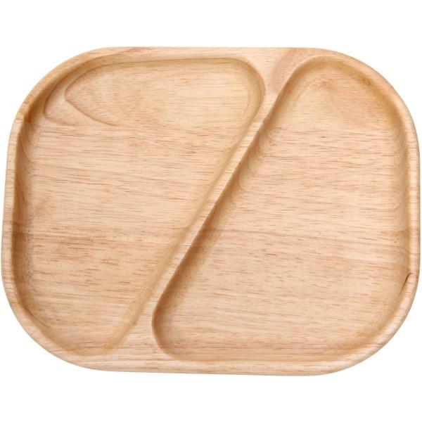 ボヌール Bonheur 21.8cm ランチプレート 1つ仕切り ダイアゴナル 木製 木 子供 キッズ 食器 仕切り プレート ウッド 天然木 カフェ ランチ wood plate ウッドバーニング 不二貿易 あす楽対応可 ラッピング不可