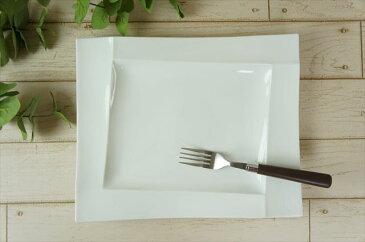 Isola-イゾラ- 30×24cm 長角 レクタンギュラー プレート ホワイト miyama 深山 ミヤマ パスタ皿 フレンチ 角皿 皿 食器 白磁 陶器 日本製 美濃焼 みずなみ焼 業務用 ラッピング不可