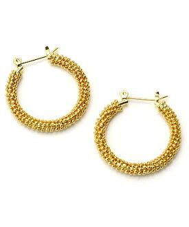 10% Off ☆ GINGER 1 month, and January issue of VERY CLASSY October issue published ★ JUICY ROCK original ★ hoop earrings gold Gold Grainy Hoop Earrings