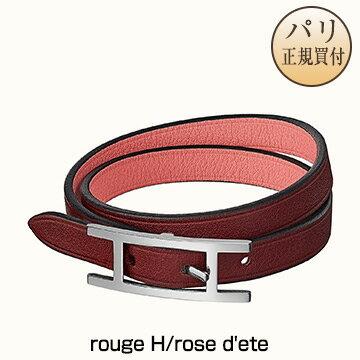 男女兼用アクセサリー, ブレスレット  HERMES 2020 Bracelet Behapi Double Tour rouge Hrose dete H064647CKBC