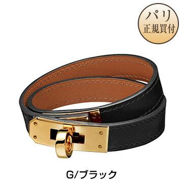 HERMES Leather Bracelet HERMES 2020 Kelly Double...