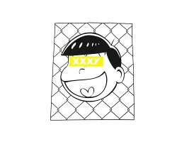 十四松BOXLOGOtシャツメンズ半袖【送料無料おそ松ボックスロゴTee夏服夏メンズファッショントップスアニメキャラクターコットンXLビッグサイズおしゃれ】