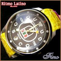 【RitmoLatino腕時計フィーノ(ブラック/マルチカラーバンド)ラージサイズ】圧倒的な「存在感」・「楽しさ」「遊び心」・「情熱」を感じさせてくれます。【お買い物マラソン1217送料無料】