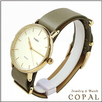 timex(タイメックス)腕時計(オリーブ)・革バンドTW2P98000