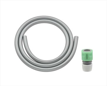 ガオナホース1mホーセンド付き(散水内径15ミリ耐候性防藻シルバー)GA-QD011