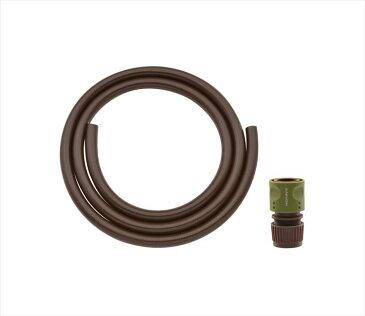 ガオナホース2mホーセンド付き(散水内径15ミリ耐候性防藻ブラウン)GA-QD032