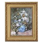ルノワール「春の花」 4号サイズ 立体複製名画 美術品 レプリカ