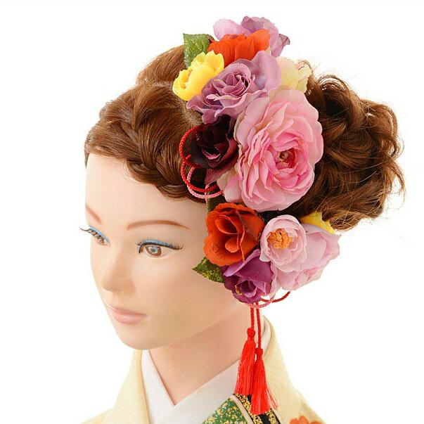 振袖 袴 成人式 卒業式 ヘアアクセサリー 結婚式 婚礼 レンタル 髪飾り 1BI0002 コサージュ【レンタル】