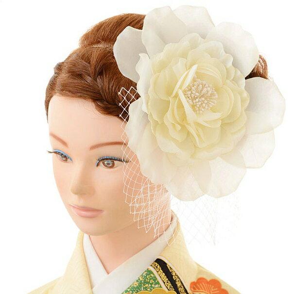 レンタル 髪飾り 1BI0014 白〔振袖 髪飾り 花〕y16REN07(10P03Dec16)