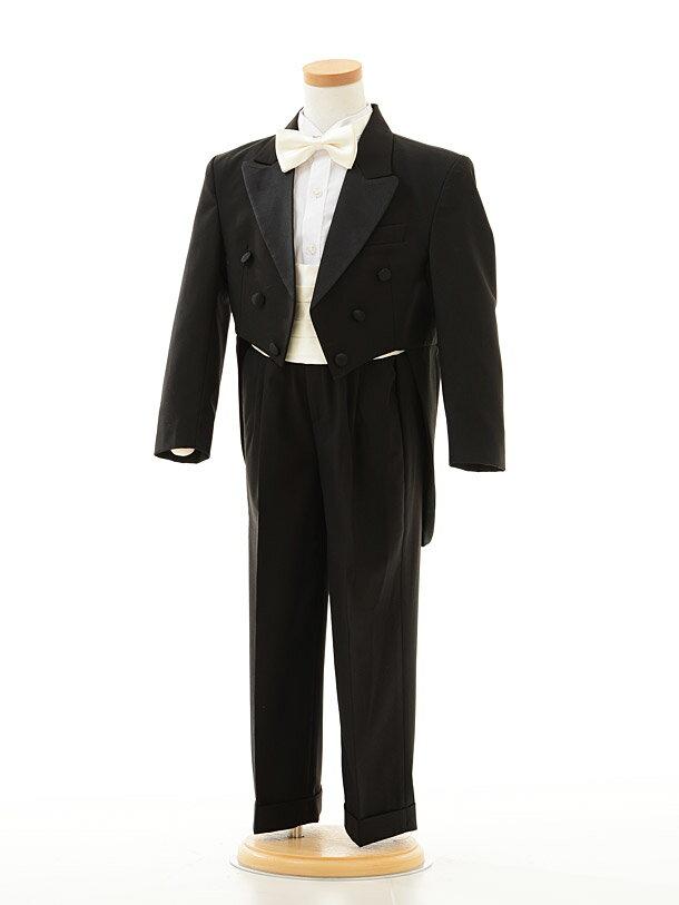 【レンタル】男の子 タキシード1BD0012 〔110cm〕男児タキシード黒エンビ服fy16REN07