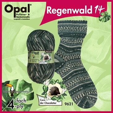 Opal 靴下用毛糸 Regenwald 14 9621