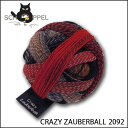 【メール便不可】SCHOPPEL 靴下用毛糸 CRAZY ZAUBERBALL 2092