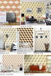 Woodcube【8color】不織布デジタル印刷壁紙【送料無料】ウッドキューブ木目ヴィンテージアンティークレトロ立方体幾何学模様貼って剥がせる!日本製不織布壁紙フリース壁紙フリースデジタルプリント壁紙jebrilleジュブリー(11.16m)JBF1075-82