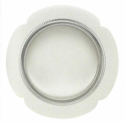 ふすまの引き手 花びらデザイン・銀のアクセント付・シノ ツキエス・S-211(1個単位) 壁紙屋本舗