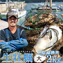 生牡蠣 殻付き 2kg 大 生食用宮城県産 漁師直送 格安生牡蠣お取り寄せ父の日ギフト プレゼント