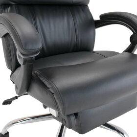 【送料無料SALE】リフレチェア【役員用】会議用【デスク用】ミーティングチェア【マネージメントチェア】高級【ブラック黒】いす【椅子】オフィス【イス】チェア【キャスター】革オフィスチェア【チェアー】170度無段階リクライニング【激安】