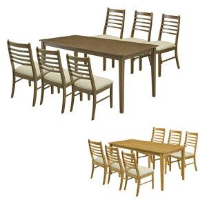 【7点セット】ダイニングテーブル ダイニングセット ダイニングテーブルセット 7点 6人用 6人掛け 北欧 シンプル 長方形 激安 アウトレット セール
