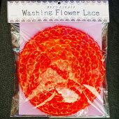 沖縄で人気の食器洗い「おきなわフラワーレース」スポンジたわし食器洗い洗剤節約エレガントレッドゴールドラメハンドメイド送料無料