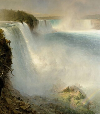 絵画 インテリア 額入り 壁掛け 油絵 フレデリック・エドウィン・チャーチ ナイアガラの滝 F20サイズ F20号 727x606mm 絵画 インテリア 額入り 壁掛け 油絵