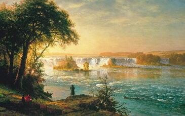 アルバート・ビアスタット セントアンソニー滝 M30サイズ M30号 910x606mm 条件付き送料無料 絵画 インテリア 額入り 壁掛け 油絵 アルバート・ビアスタット