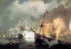 絵画 インテリア 額入り 壁掛け 油絵 イヴァン・アイヴァゾフスキー ナヴァリノの海戦 P20サイズ P20号 727x530mm 絵画 インテリア 額入り 壁掛け 油絵