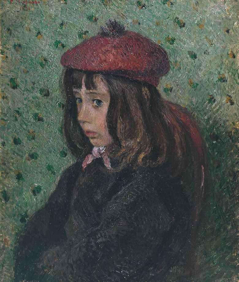 絵画 インテリア 額入り 壁掛け 油絵 カミーユ・ピサロ フェリックス・ピサロ(息子7歳)の肖像  F20サイズ F20号  727x606mm 絵画 インテリア 額入り 壁掛け 油絵:絵画販売のアートギャラリー南青山