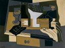 【送料無料】絵画 油彩画 油絵 複製画/フアン・グリス コーヒー豆挽き器 P8サイズ P8号 455x333mm すぐに飾れる豪華額縁付きキャンバス