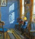 油絵 アンナ・アンカー 青い部屋に射し込む日光 F12サイズ F12号 606x500mm 油彩画 絵画 複製画 選べる額縁 選べるサイズ