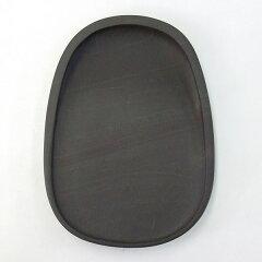 端渓斧柯岩蛋型淌池硯6吋『硯石端渓硯実用硯本石書道用品』