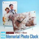 【送料無料】【ギフトラッピング無料】 メモリアルフォトクロック《ミニタイプ/全面写真デザイン》 ギフトに喜ばれる オリジナル時計 セイコー ムーブメント[aclk-301]