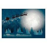 クリスマスカード サンタクロース サンタ 【DMC-065-L】100枚パック メッセージカード ハガキサイズ デザインメッセージカードにクリスマスカード登場!【クリスマスデザインの絵柄面はプリンタ出力には適しません】